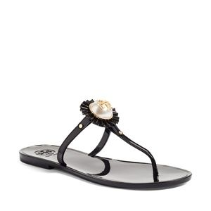 Melody Pearl Sandals in Navy